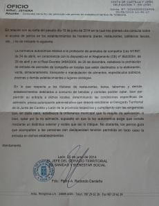 carta junta 2